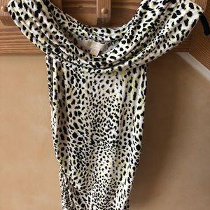 Michael Kors Leopard Sleeveless Top